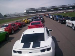 Camaros at Indianapolis Motor Speedway
