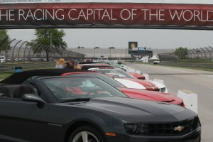 Camaros at the Indianapolis Motor Speedway